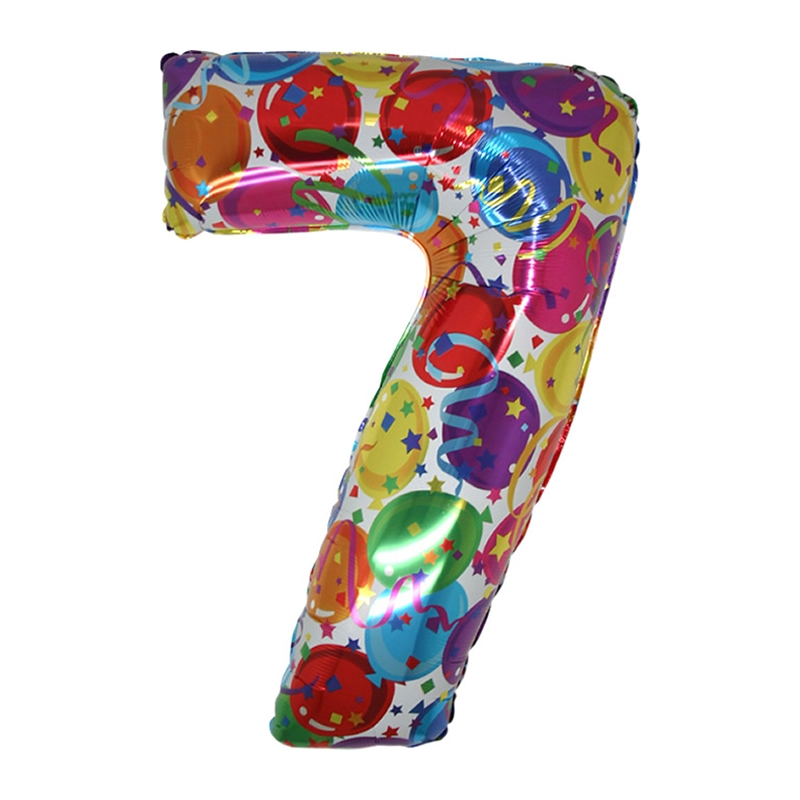 Supershape 7 Number (Rakam) Folyo Balon