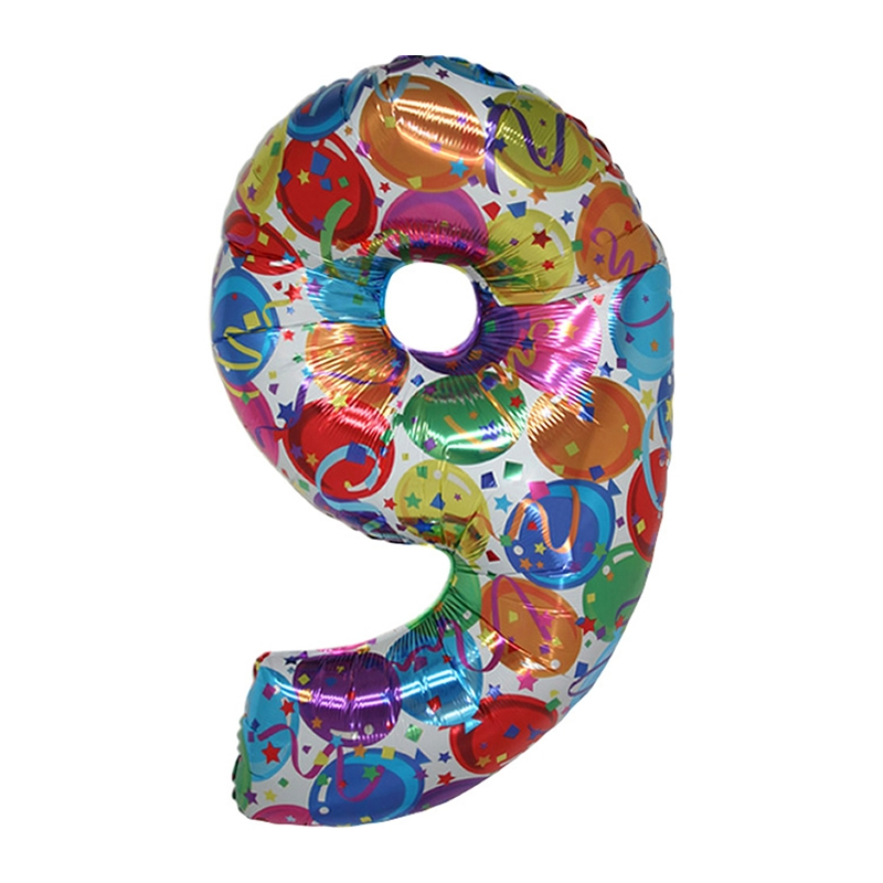 Supershape 9 Number (Rakam) Folyo Balon