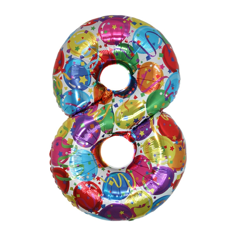Supershape 8 Number (Rakam) Folyo Balon