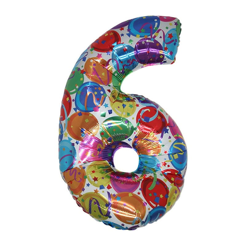Supershape 6 Number (Rakam) Folyo Balon